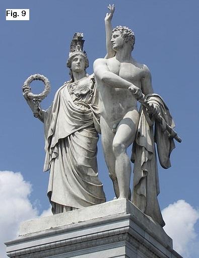 Diomede e            Atena. Albert Wolff, 1853, Schlossbrücke, Berlin